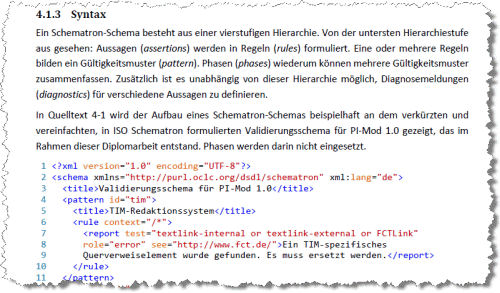 Syntaxhervorhebung in Word 2007